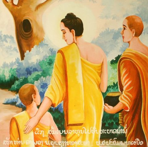 Buda com Rahula