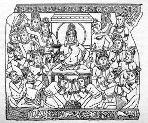 Imagem do Rei Sudhodanna e sua corte