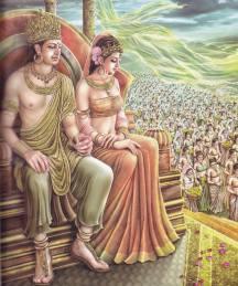 Rei Suddhodana e a Rainha Maya