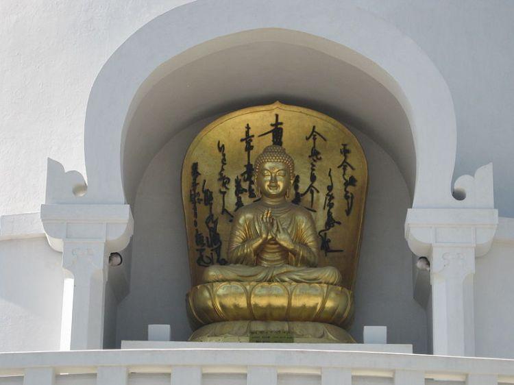 Imagem na Torre do Buda em Vaisali